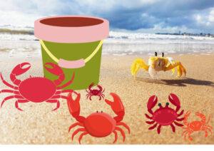 Ein Kuebel voll Krabben